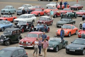 Some of the classic cars taking part in the Welland Valley Wander. PICTURE: ANDREW CARPENTER